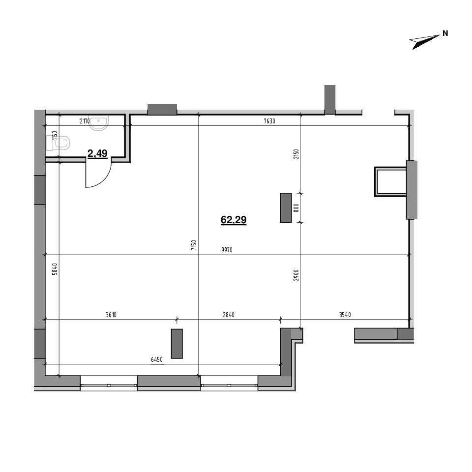 ЖК Америка: планування приміщення площею 64.78 м<sup>2</sup>