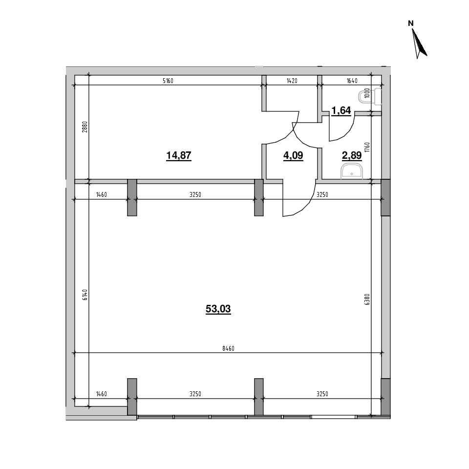 ЖК Америка: планування приміщення площею 75.48 м<sup>2</sup>