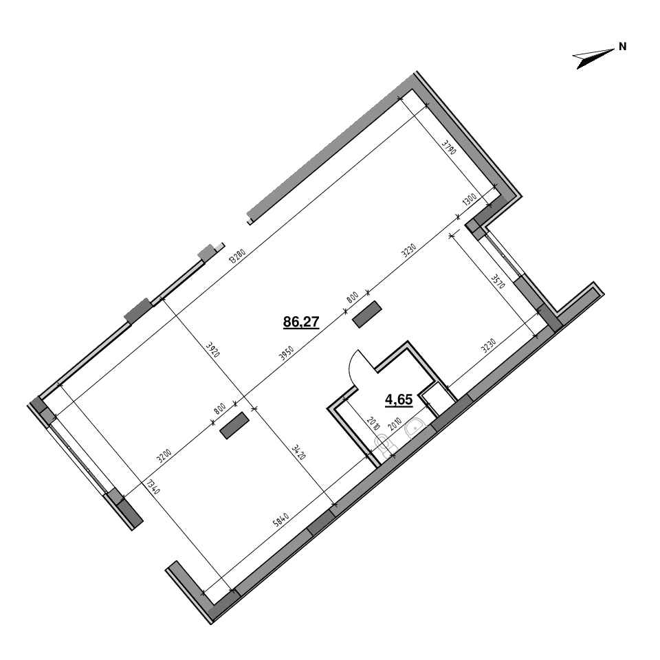 ЖК Америка: планування приміщення площею 90.92 м<sup>2</sup>