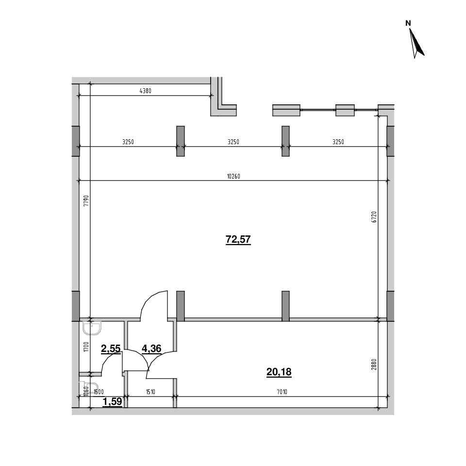 ЖК Америка: планування приміщення площею 99.96 м<sup>2</sup>