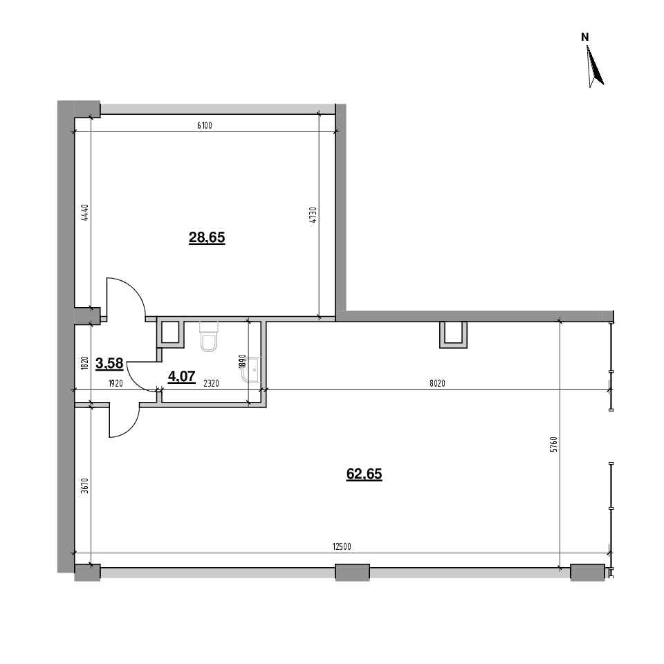 ЖК Велика Британія: планування приміщення площею 98.95 м<sup>2</sup>
