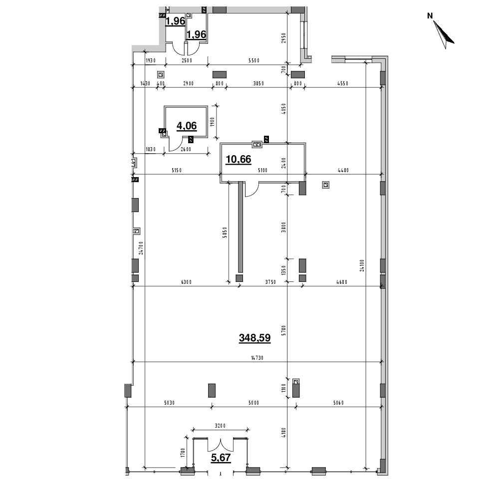 ЖК Riel City: планування приміщення площею 370.84 м<sup>2</sup>