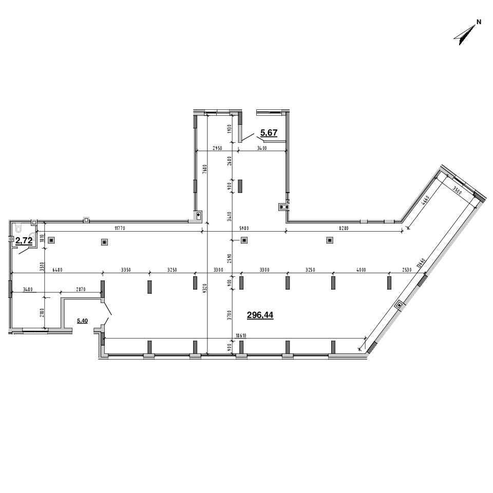 ЖК Підзамче. Новий Форт: планування приміщення площею 310.23 м<sup>2</sup>