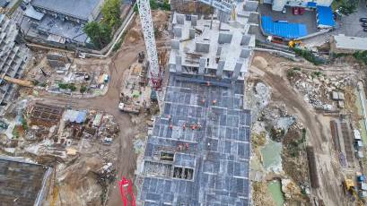 ЖК Оk'land: у будинку №2 триває зведення вертикалу 16 поверху другої секції