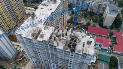 В першій секції будинку №1 виконується вертикал 22 поверху