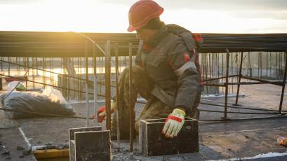 ЖК Riel Сity: у другій черзі у секції 5-А завершили заливання плити перекриття десятого поверху
