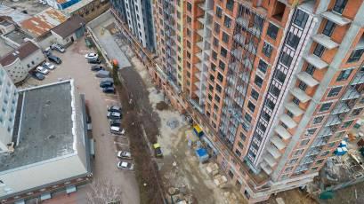 ЖК «Львівська Площа»: у другій черзі виконуються фасадні роботи