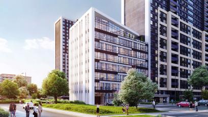 ЖК Оk'land: у першій секції будинку №3 виконали вертикальні елементи 16 поверху