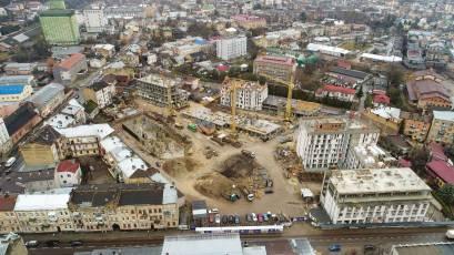 ЖК «Містечко Підзамче»: у другій черзі комплексу «Новий Форт» завершено влаштування зовнішніх мереж каналізації