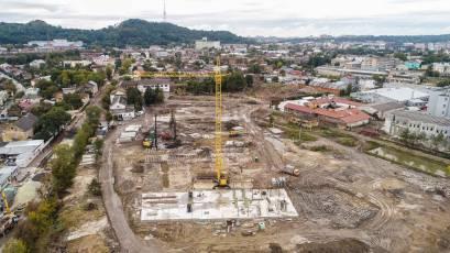 ЖК «Містечко Підзамче»: у комплексі «Вежа» тривають фундаментні роботи