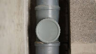 ЖК Riel City: в четвертій секції третьої черги завершено влаштування мереж каналізації та водопостачання