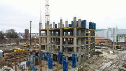 ЖК «Містечко Підзамче»: в секції Б-1 другої черги комплексу «Вежа» тривають фундаментні роботи