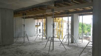 ЖК «Містечко Підзамче»: в секції В-4 третьої черги комплексу «Новий Форт» виконується плита перекриття шостого поверху