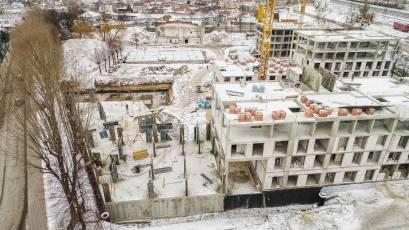 ЖК «Містечко Підзамче»: в секції А-5 першої черги комплексу «Брама» виконується влаштування вертикальних конструкцій підвалу