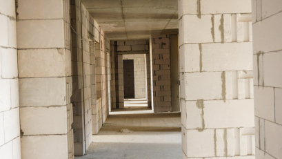 ЖК Riel Сity: у п'ятому будинку першої черги завершили кладку стін та облаштування даху