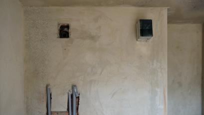 ЖК «Америка»: у будинку Д-1 завершується штукатурення стін другої секції