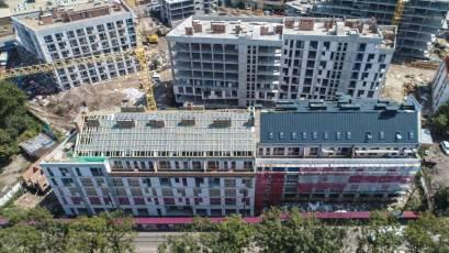 В секції Б-1 другої черги комплексу «Новий Форт» виконується утеплення фасаду