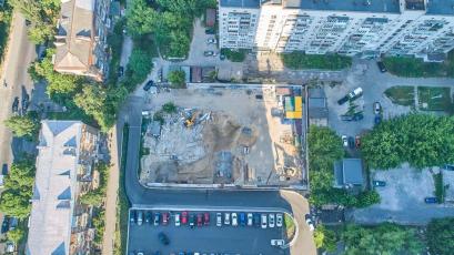 ЖК Forward: триває підготовка фундаментної плити паркінгу