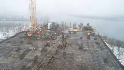 ЖК «Берег Дніпра»: виконується вертикал 16 поверху